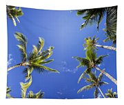 Waving Palm Trees Tapestry