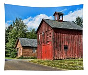 Weathered Red Barn Tapestry