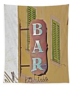 Weathered Rustic Metal Bar Sign Tapestry