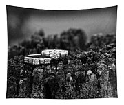 Wedding Bands On Stump Tapestry