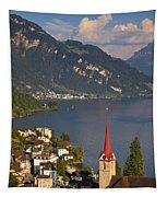 Weggis Switzerland Tapestry