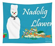 Welsh Snowman Chef Tapestry