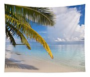 Whispering Palm On The Tropical Beach Tapestry