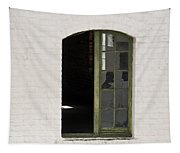 White Brick And Broken Window Tapestry