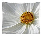 White Cosmos Tapestry