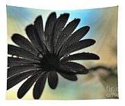 White Daisy Silhouette Tapestry