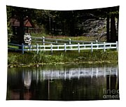 White Fence Tapestry