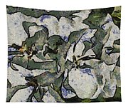 White Geraniums   -- Vangogh Tapestry