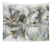 White Geraniums - Watercolor Tapestry