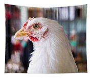 White Hen Tapestry