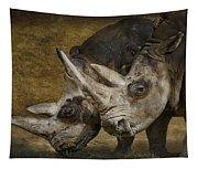 White Rhinos Tapestry