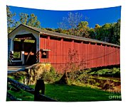 White Rock Forge Covered Bridge Tapestry