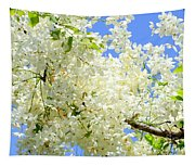 White Shower Tree Tapestry