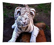 White Tiger 2 Tapestry
