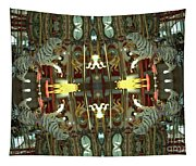 White Tiger Carousel 2 Tapestry