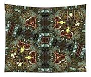 White Tiger Carousel Tapestry