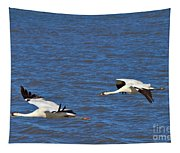 Whooping Cranes Tapestry