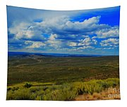 Wide Open Wyoming Sky Tapestry