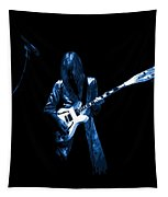 Wild Blue Guitar Tapestry