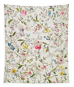 Wild Flowers Design For Silk Material Tapestry