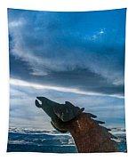 Wild Horse Sculpture Tapestry