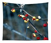 Wild Red Berries Out Of The Shell Tapestry