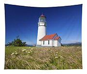 Wildflowers And Cape Blanco Lighthouse Tapestry