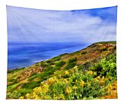 Wildflowers At Point Loma Tapestry