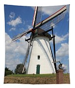 Windmill And Blue Sky Tapestry