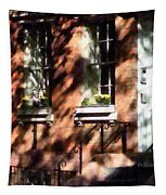 Window Boxes Greenwich Village Tapestry