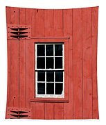 Window In Red Wall Tapestry