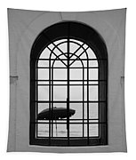 Windows On The Beach In Black And White Tapestry