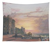 Windsor Castle North Terrace Looking West At Sunse Tapestry