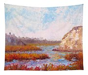 Winter At The Back Bay Tapestry