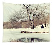 Winter Day In The Park Tapestry