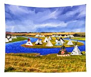Winter Gathering Place Tapestry