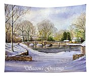 Winter In Ashford Xmas Card Tapestry