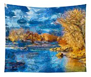 Winter In Salida -- Renoir Tapestry