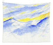 Winter Mountains Tapestry
