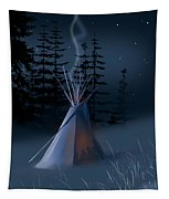 Winter Teepee Tapestry