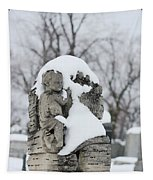 Winter Tombstone Tapestry