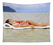 Woman On Raft Tapestry
