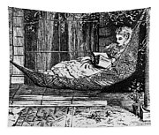 Woman Reading, C1873 Tapestry