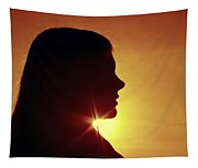 Woman Silhouette Tapestry