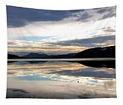 Wood Lake Mirror Image Tapestry