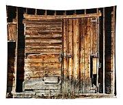 Wooden Slats Barn Tapestry