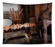 Woodworker - Lathe - Rough Cut Tapestry