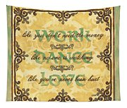 Work Dance Love Tapestry