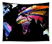 World Map Abstract Painting 2 Tapestry