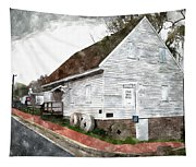 Wye Mill - Water Color Effect Tapestry